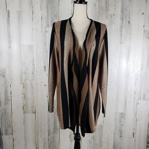 Chico's Striped Long Cardigan